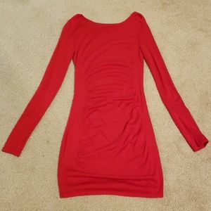 Express Dresses - Red Long sleeve Dress from Express